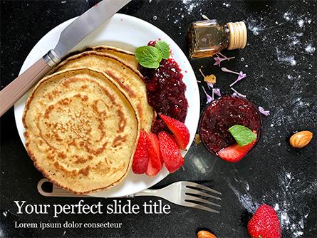 Pancakes with Jam Presentation Presentation Template, Master Slide