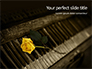 Yellow Rose on Piano Keys Presentation slide 1