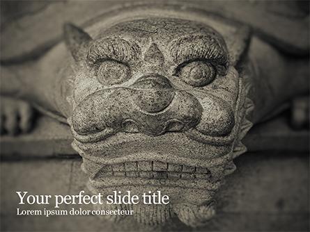 Chinese Dragon Statue  Presentation Presentation Template, Master Slide