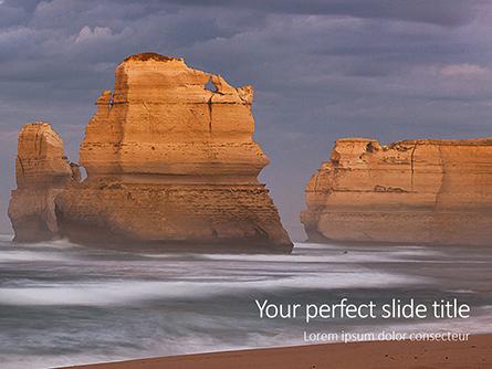 The Twelve Apostles on Great Ocean Road Presentation Presentation Template, Master Slide