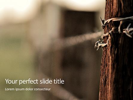 Barbed Wire Fence Presentation Presentation Template, Master Slide