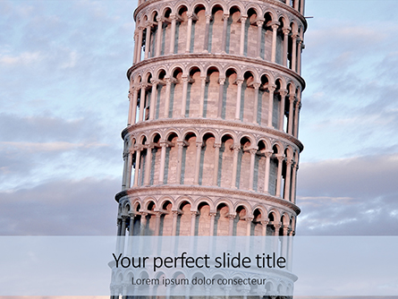 Leaning Tower of Pisa Presentation Presentation Template, Master Slide
