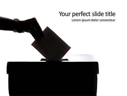 Ballot Box and Casting Vote Presentation Presentation Template, Master Slide