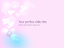 Background with Minimalistic Pastel Pattern Valentine's Day Theme Presentation slide 1