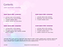 Background with Minimalistic Pastel Pattern Valentine's Day Theme Presentation slide 2