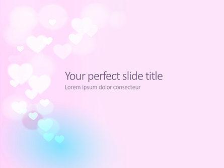 Background with Minimalistic Pastel Pattern Valentine's Day Theme Presentation Presentation Template, Master Slide