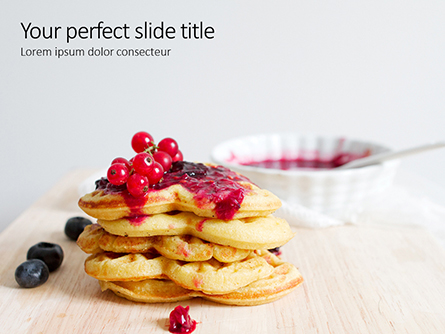 Heart Shaped Waffles Presentation Presentation Template, Master Slide