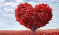A Red Heart Shaped Tree Presentation Presentation Template