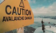 Warning Sign of Avalanche Danger Presentation Presentation Template