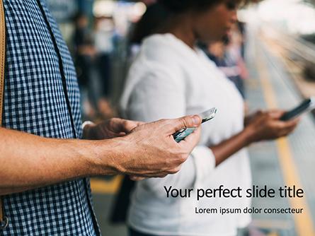 Smartphone Addiction Presentation Presentation Template, Master Slide