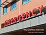 Hospital Emergency Room Sign Presentation slide 1