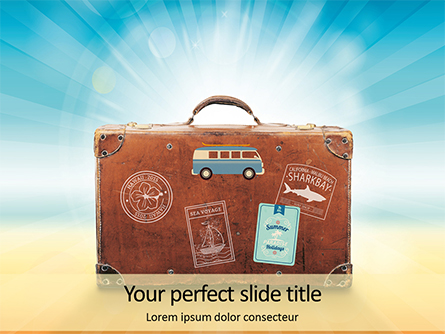 Summer Trip Concept Presentation Presentation Template, Master Slide
