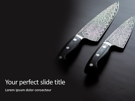 Exclusive Knives Presentation Presentation Template, Master Slide