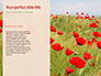 Red Poppy in the Field Presentation slide 9