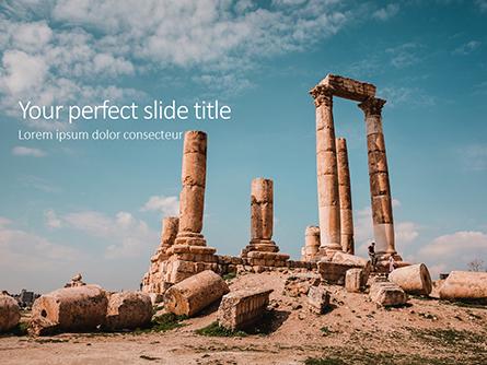 Temple of Hercules Amman Presentation Presentation Template, Master Slide