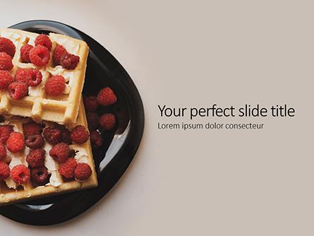 Waffles with Raspberries Presentation Presentation Template, Master Slide