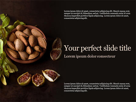 Almonds and Figs Presentation Presentation Template, Master Slide