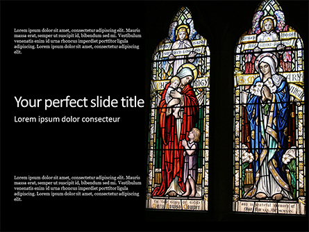 Stained Glass Window Presentation Presentation Template, Master Slide
