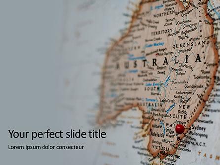 Australia Map Presentation Presentation Template, Master Slide