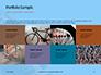 Closeup Mountain Bike Wheel Presentation slide 17