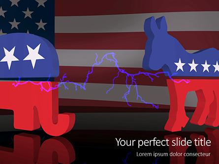 American Politics Concept Presentation Presentation Template, Master Slide