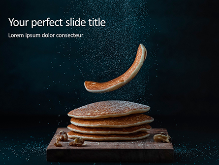 Delicious Pancakes with Nuts Presentation Presentation Template, Master Slide