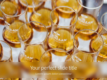 Glasses of Whiskey Presentation Presentation Template, Master Slide