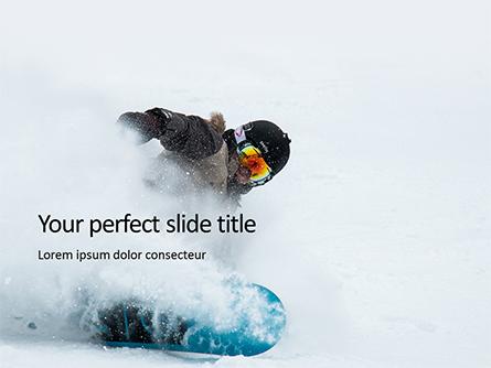 Snowboarder Presentation Presentation Template, Master Slide