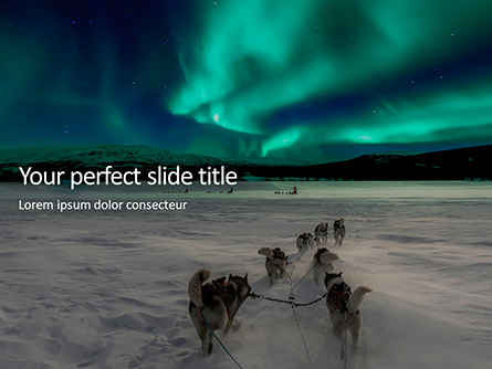 Northern Lights Excursion with Dog Sledding in the Arctic Wilderness Presentation Presentation Template, Master Slide