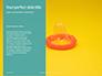 Two Condom Packs on a Blue Background Presentation slide 9