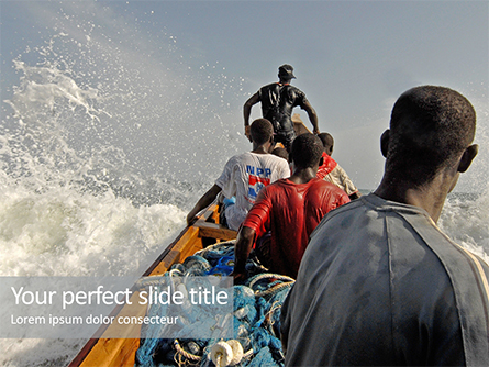 Fishing Boat and Fishermen Presentation Presentation Template, Master Slide