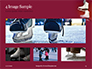 Hanged Pair of White Leather Figure Skates on Red Wall Presentation slide 13