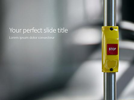 Red Stop Button in Public Transport Presentation Presentation Template, Master Slide
