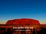 Uluru Ayers Rock by Sunset Presentation slide 1