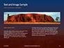 Uluru Ayers Rock by Sunset Presentation slide 14