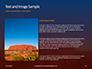 Uluru Ayers Rock by Sunset Presentation slide 15