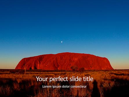 Uluru Ayers Rock by Sunset Presentation Presentation Template, Master Slide