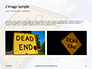 Dead End Sign Against Blue Cloudy Sky Presentation slide 11