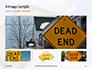 Dead End Sign Against Blue Cloudy Sky Presentation slide 13