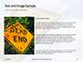 Dead End Sign Against Blue Cloudy Sky Presentation slide 15