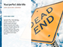 Dead End Sign Against Blue Cloudy Sky Presentation slide 9