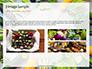 Frame of Green Organic Vegetables on Wooden Surface Presentation slide 12