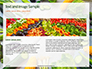 Frame of Green Organic Vegetables on Wooden Surface Presentation slide 14