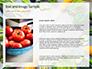 Frame of Green Organic Vegetables on Wooden Surface Presentation slide 15