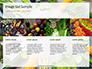 Frame of Green Organic Vegetables on Wooden Surface Presentation slide 16