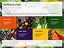 Frame of Green Organic Vegetables on Wooden Surface Presentation slide 17