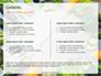 Frame of Green Organic Vegetables on Wooden Surface Presentation slide 2
