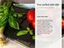 Frame of Green Organic Vegetables on Wooden Surface Presentation slide 9