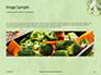 Broccoli on Green Background Presentation slide 10