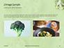 Broccoli on Green Background Presentation slide 11